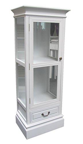 Kommode-Glas-Vitrine-Schrank-Holz-antik-look-Landhaus-Shabby-Chic-Schubladen