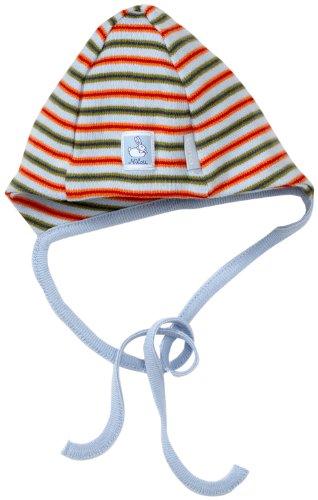 LANA natural wear Unisex - Baby Babybekleidung/ Mützchen, Hüte & Kopftücher, gestreift 900 3800 5014, Gr. 50/52, Rot (1034 Ringel Ted) -