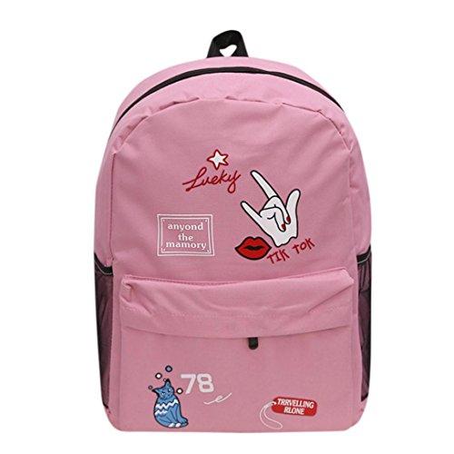 Tasche, feiXIANG Schulter Bookbags Schule Reise Rucksack Pink