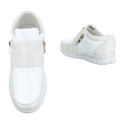 Ital-Design - Low-top Donna Argento/Bianco