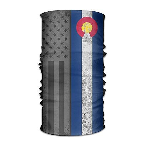 Vidmkeo DahelinG Unisex Stylish Colorado State Flag USA Quick Dry Microfiber Headwear Outdoor Magic Bandana As Neck Gaiter Head Wrap Headband Scarf Face Mask Ultra Soft Elastic One Size Outdoor2