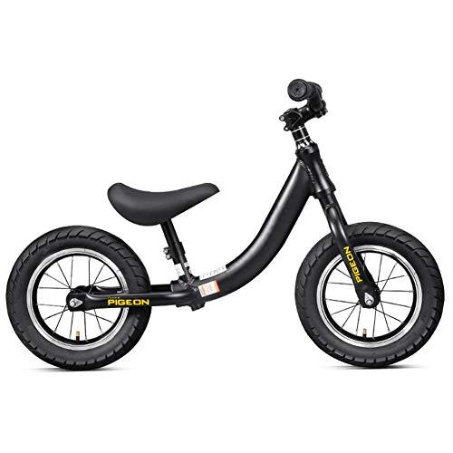Hxx Säuglingsausgleichsfahrrad, Praxis-Fahren Erlernen, Fahrrad-Ultraleichtes Aluminiumlegierungs-Rahmen-Fahrrad Für 2~8 Jahre Spielzeug-Fahrrad-Geschenk Der Kinder Zu Gehen,Schwarz -