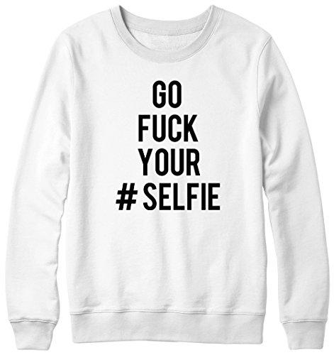 Go F *ck votre Objectif photo Selfie Hipster Pull Unisexe Blanc - Blanc