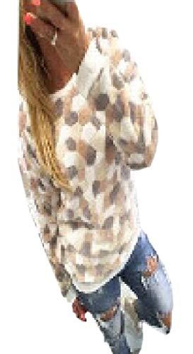 dahuo Damen Pullover mit floralem Muster, langärmelig, locker geschnittenes Hemd Gr. Small, gelb -