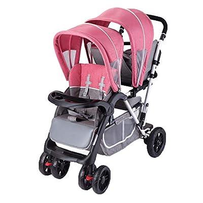Kaysa-TS Coche Hermano Gemelo Buggy Twin Coche Doble Cochecito para 2 niños Sistema de Viaje