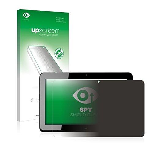 upscreen Spy Shield Clear Blickschutzfolie / Privacy für HP Elite x2 1011 G1 (Sichtschutz ab 30°, Kratzschutz, selbstklebend)