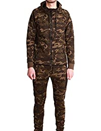 Ensemble Survêtement Jogging Tech Cabaneli Camo Kaki
