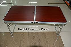 Portable Folding Aluminium Table for Home, Office, Outdoors, Study, Picnic, Camping, Dining Etc.