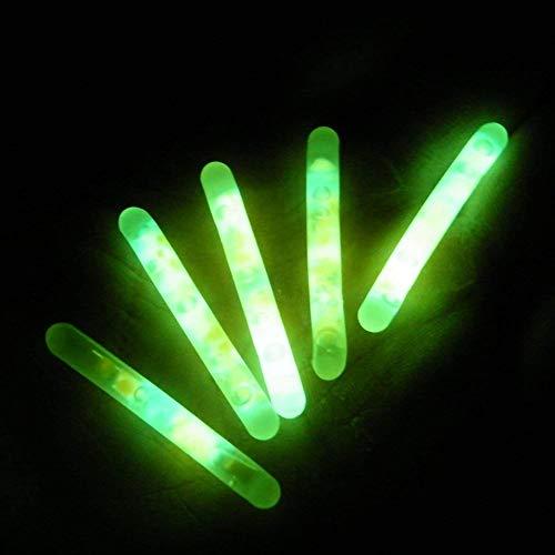 Outtybrave Universal Knicklichter Nachtfischen Grün Fluoreszierendes Licht Angeln Leuchtstofflampe Nacht schwimmend Pole Licht Dunkel Knicklicht 5 Stück -