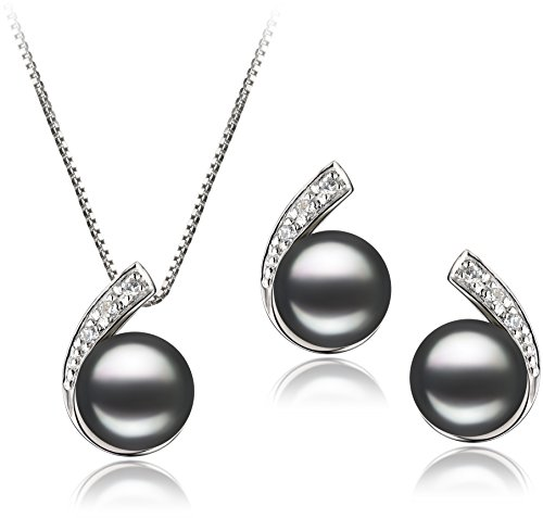 pearlsonly-claudia-black-7-8mm-freshwater-925-sterling-silver-cultured-pearl-set