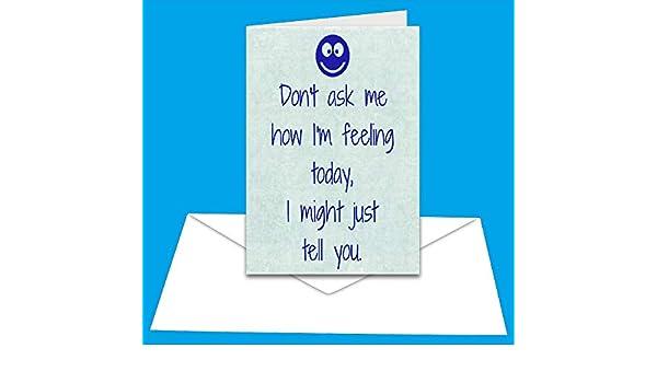 A5 Greetings Card Scream Smiley
