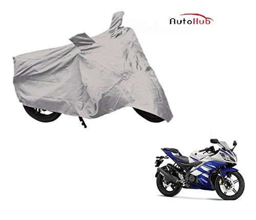 Auto Hub Premium Silver-Matty Bike Body Cover For Yamaha R15  available at amazon for Rs.235