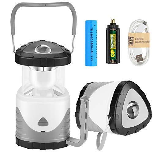 MojiDecor Campinglampe LED Zeltlampe 2 in 1 Tragbare Laterne Taschenlampe Suchscheinwerfer wiederaufladbar RGB Farbwechsel Campingleuchte für Camping Outdoor Wandern