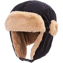 AHAHA Unisexe Chapeau d hiver Bomber Cap pour Enfants Garçon Cache-Oreilles  Chaud Capuche 2890730d5fe