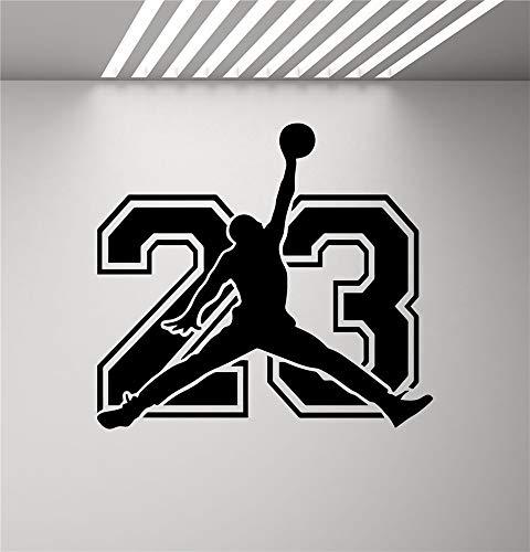 Wandtattoo Wohnzimmer Wandtattoo Schlafzimmer Air Jordan Sign Jumpman-Aufkleber Basketball Poster Spielzimmer Fitness-Center Mens Gym Sportraum