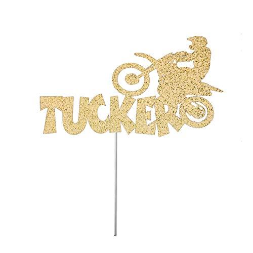 Motocross Tortenaufsatz, personalisierbar, Party-Dekoration, Tortenaufsatz, Motocross, Motocross, Motocross, Geburtstagsparty, Dirt Bike, persönliches Dirt Bike