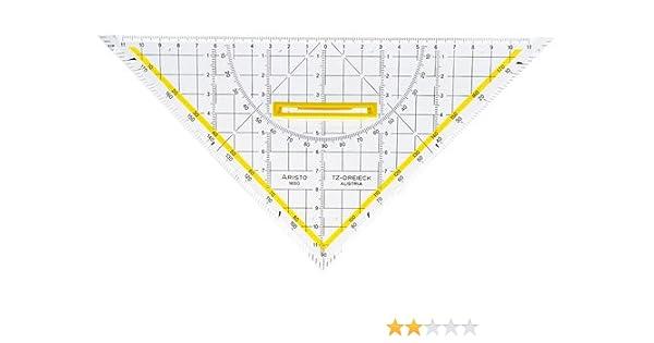 Aristo Zeichendreieck TZ-Dreieck® Plexiglas® mit Griff 250 mm glasklar