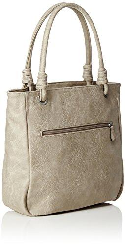 s.Oliver Damen Shopper Tasche, 12 x 32 x 31 cm Beige