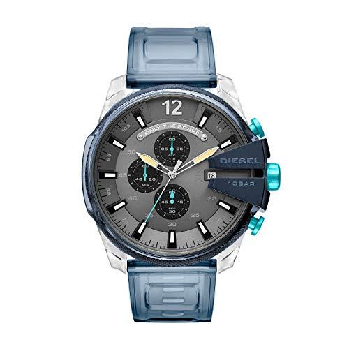 Diesel Herren Chronograph Quarz Uhr mit PU Armband DZ4487 (Diesel Uhren Mann)