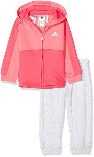 adidas I E Lin Fzh FL Chándal, Unisex bebé, (rostiz/Rosa/Blanco), 86 (12/18 Meses)
