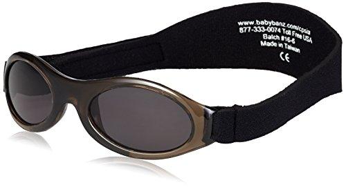 KidzBanz Adventure - Babysonnenbrille (0 - 2 Jahre), Schwarz