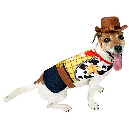 Disney Hunde Kostüm Cowboy Woody Hundekostüm Karneval Fasching (Halloween Woody Kostüme)