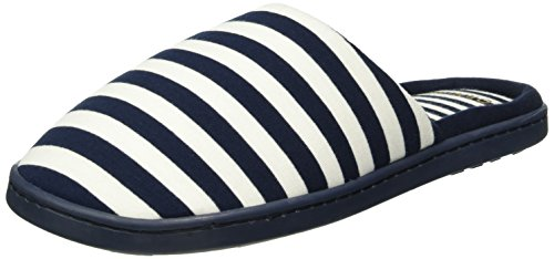 womensecret Mu1 - Stripes Slprs - Tongs Femme bleu (MARINE BLUE)