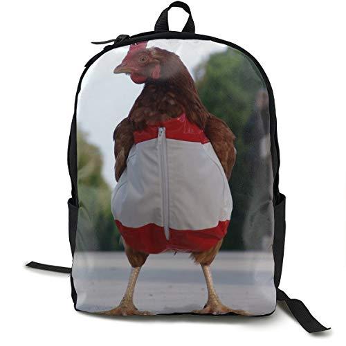 Hühner-Kostüm, Beine, Street Schulrucksack, Schulranzen, Büchertasche, Reisen, Laptoprucksack, Freizeitrucksack für Kinder, Studenten, Erwachsene