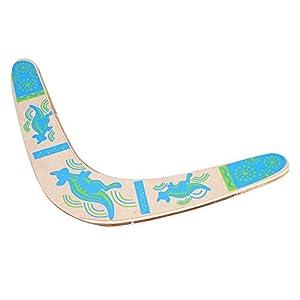 Boomerang de Madera Azul Retroceso en Forma de V Boomerang Flying Disc Throw Catch para ni?os ni?os Juegos al Aire Libre Regalo Deportivo Juguete