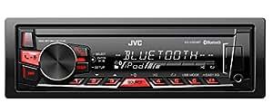 JVC KD-X320BTE Autoradio Mechaless, Front USB 1A, Nero/Rossa
