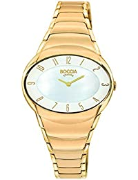 Boccia Damen-Armbanduhr Analog Quarz Edelstahl beschichtet 3255-02