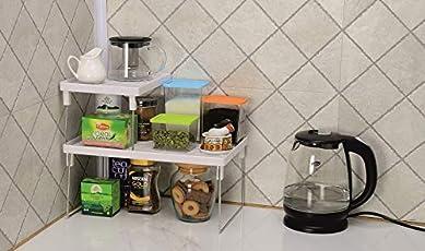 JVS™ j 249 Plastic Folding Rack Combo for Home & Kitchen 2 Set Small & Big