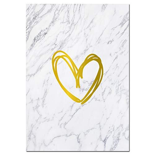 Marmor Parfüm (CFGCH Mode Leinwand Kunstdruck Poster Parfüm Wimpern Marmor Malerei Wandbild Für Wohnzimmer Dekor, 30X40 cm Kein Rahmen, Bild 2)