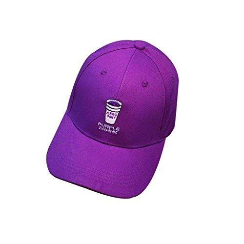 rren, für in Baseball Cap Snapback HIP HOP Flat Hat M violett (Beanie Baby Katze Kostüm)