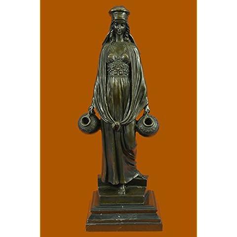 Escultura bronce estatua...Envío gratis...Erótica señora que llevan moldeada jarras de agua caliente(EP-1063-UK)Estatuas estatuilla estatuillas desnuda Oficina y Decoración del hogar Coleccionables Pr