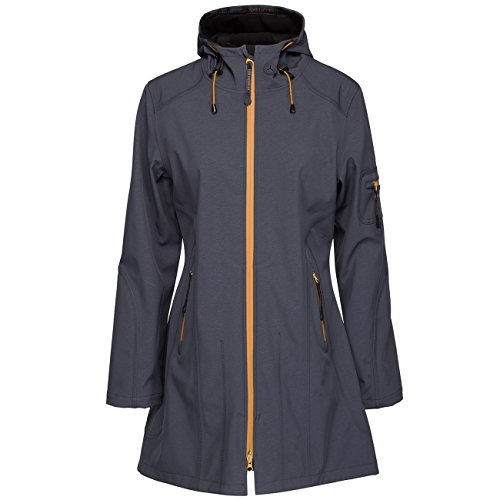 Ilse Jacobsen Lady 3/4 Raincoat India Ink Black