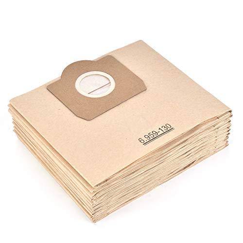 Leadaybetter  10 Stück Staubsaugerbeutel für Karcher 6.959-130.0 Papiertüten Filter A 2201/2204/2504