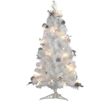 Albero di Natale decorato con illuminazione Colore: bianco/argento