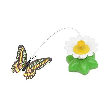 Interactive électrique rotatif Papillon jouet pour animal domestique Chat aléatoire Papillon Chase Chaton jouer jouet