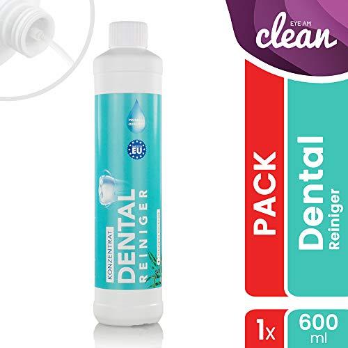 Dental Ultraschallreiniger Konzentrat 600ml - Reinigungskonzentrat für jedes Ultraschallreinigungsgerät für Zahnprothesen, Gebisse, Zahnersatz - Prothesenreiniger für das Ultraschallbad (600 ml)