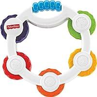Fisher-Price Mon Premier Tambourin, jouet bébé avec miroir et pièces colorées, 3 mois et plus, BLT37