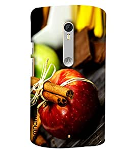 Omnam Apple With Other Effects Of Fruits Designer Back Cover Case For Motorola Moto X Play