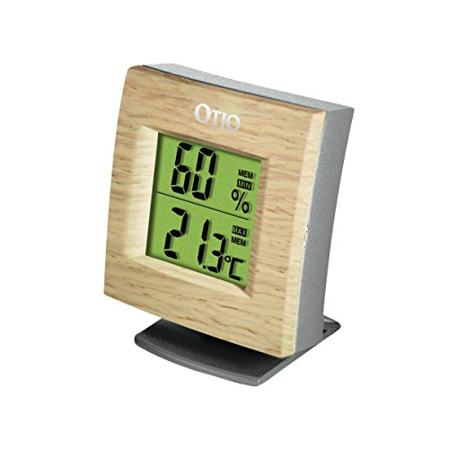 2-Thermometer/Hygrometer innen Holz (Holz Innen Thermometer)
