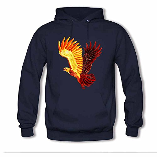 Men Unisex Hoodie Sweatshirt Animal Eagle Flag Wings Printed 3XL (Italienisch-flag Sweatshirt)