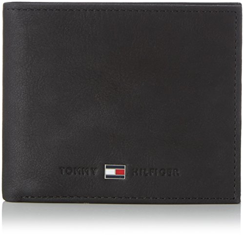 Tommy Hilfiger - Johnson Mini CC Wallet, Cartella Uomo, Color Nero (Black 002), Talla 11x9x2 cm (B x H x T)