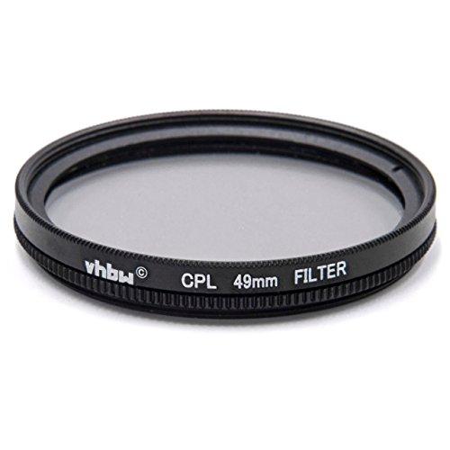 vhbw Universal CPL-Pol-Filter 49mm für Kamera Canon EF 50 mm 1.8 STM, EF-M 15-45 mm 3.5-6.3 is STM, Hasselblad Lunar 16 mm 2.8.