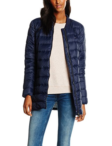 Hilfiger Denim Damen Daunenjacke THDW LIGHT DOWN LONG BOMBER 15, Gr. 34 (Herstellergröße: XS), Blau (NAVY BLAZER 416)