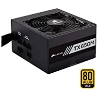 Corsair TX650M Alimentation PC (Semi-Modulaire, 80 PLUS Gold, 650 Watt, EU)