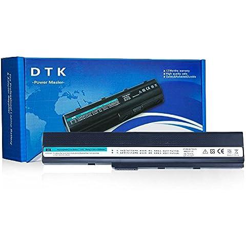 Dtk® Batería de repuesto para portátil ASUS A32-K52 / 70-NXM1B2200Z / 90-NYX1B1000Y / A31-K52 / A41-K52 / A42-K52 / A31-B53 / K52L681, A52 series A52F A52J K42 series K42J K52 Series A42 series X42 Series 12 Months Warranty [Li-ion, 10.8V 5200MAH/6-cell] replacement notebook battery