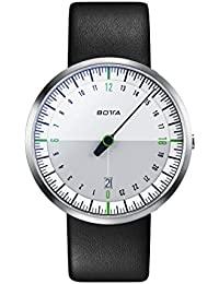 Botta Diseño de uno 24Neo Color Blanco de verde Reloj de pulsera–24H einzeiger Reloj, acero inoxidable, cristal de zafiro antirreflejos, correa de piel